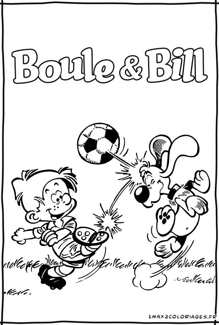 Coloriages De Boule Bill Boule Et Bill Le Film Boule Et Bill