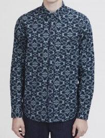 Topman Blue Wallpaper Shirt
