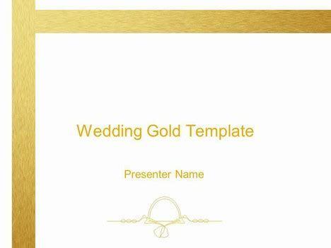 Wedding Gold Decoration template
