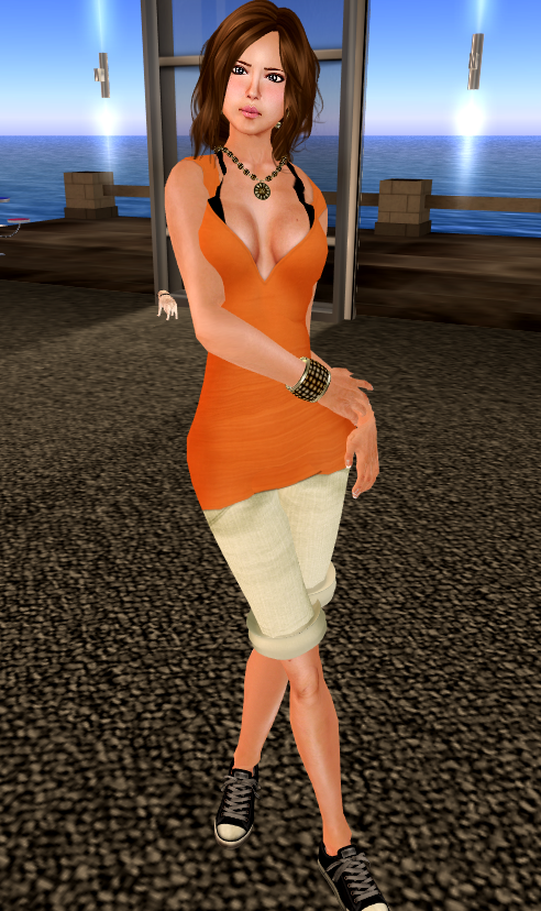 [ Cynful ] Gracieness Dress - Coral & ChrizzpyShort - sunny