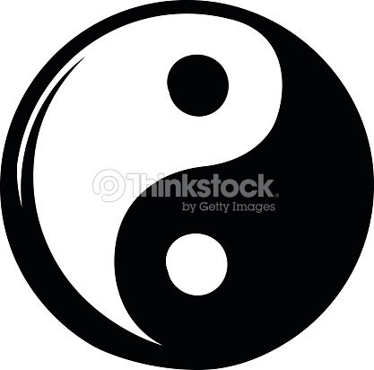 Dibujos De Yin Yang Icono Arte Vectorial Thinkstock
