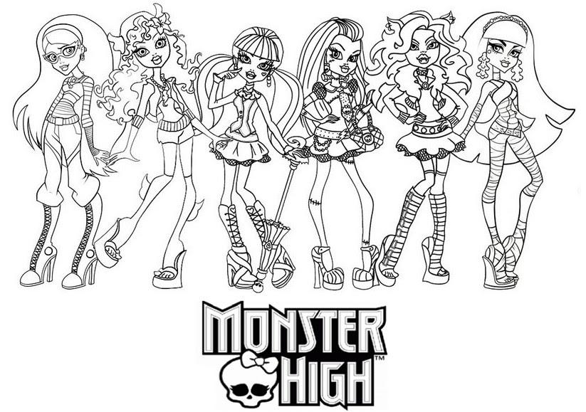 Coloriage A Imprimer Les Monster High Gratuit Et Colorier