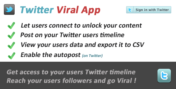 Twitter Viral and Marketing Social App