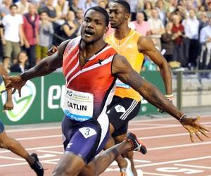 Justin Gatlin nos 100m rasos da Diamond League (Foto: Agência Reuters)