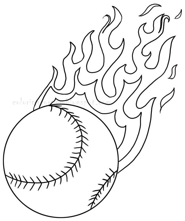80 Softball Coloring Pages Download Free Images