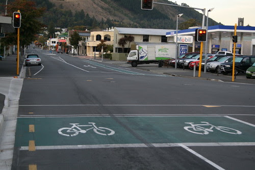 Bike lane Nelson NZ