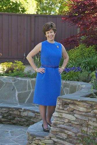 Blue Vintage dress Front, standing