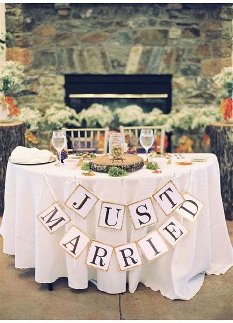 """Just Married"" Wedding Banner DIY Wedding Shop   Budget"