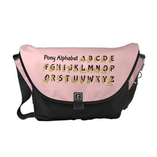 Pony Alphabet Chart, Pink Courier Bag