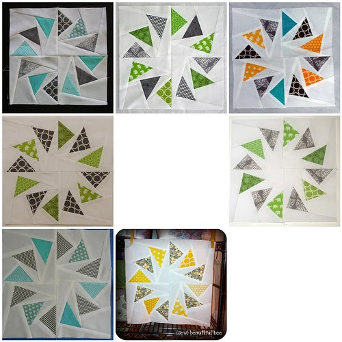 Blocks Received from Sew Beautiful Bee Ladies