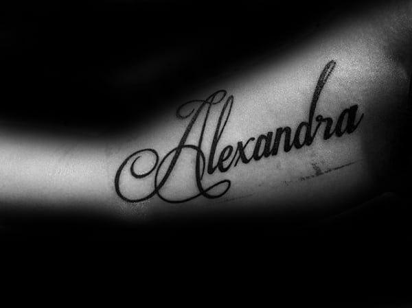 60 Name Tattoos For Men Lettering Design Ideas