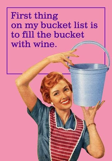 Wine Filled Bucket List Funny Birthday Card   Greeting