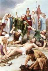 11ª ESTACIÓN: JESÚS CLAVADO EN LA CRUZ