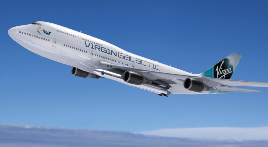 Using a Boeing 747 as the launch platform for LauncherOne will allow Virgin Galactic to double the vehicle's payload performance, increasing the size of the market it can serve, according to company officials. Credit: Virgin Galactic
