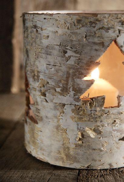 Birch Christmas Tree Votive