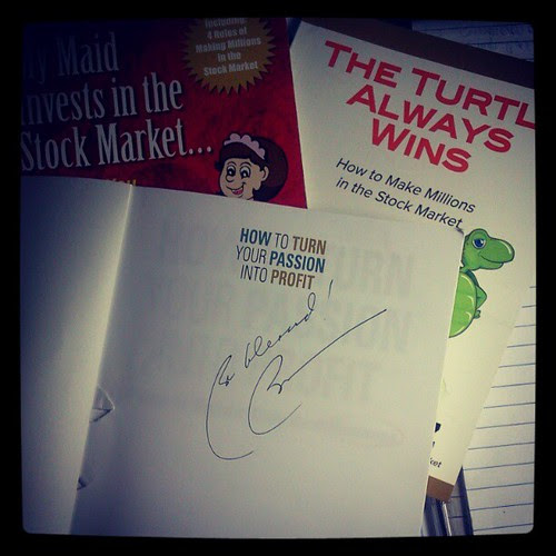 """Blessed to have a signed copy of @bosanchez 's latest book, """"How to Turn Your Passion Into Profit."""" Also giving away a signed copy to 1 lucky blog reader. Stay tuned! #book #nowreading #bloggiveaway"""