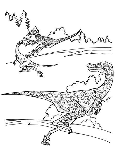 Ausmalbilder Dinosaurier Velociraptor - Kostenlose ...