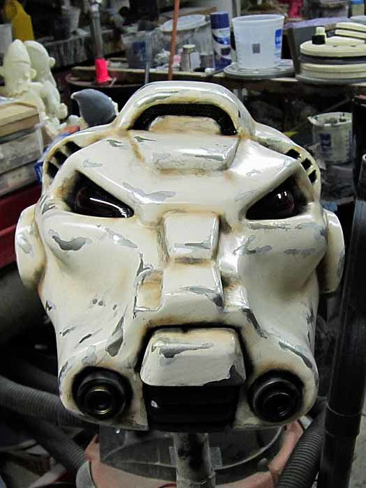 SM Terminator Helmet Airbrushed