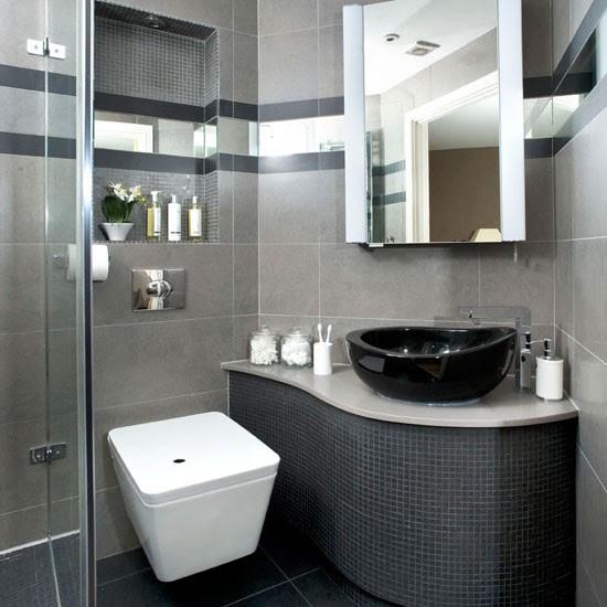 Sleek grey bathroom makeover | See this sleek grey bathroom ...
