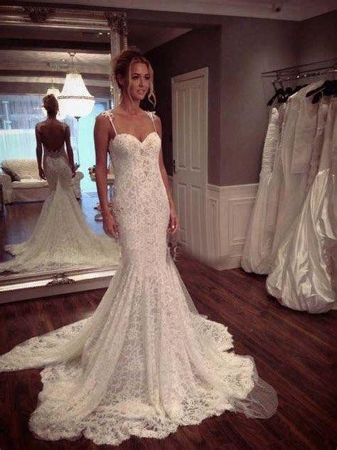 Sexy Lace Spaghetti Strap Wedding Dresses ? Designers