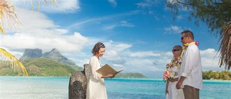 Bora Bora Private Island Wedding Ceremony