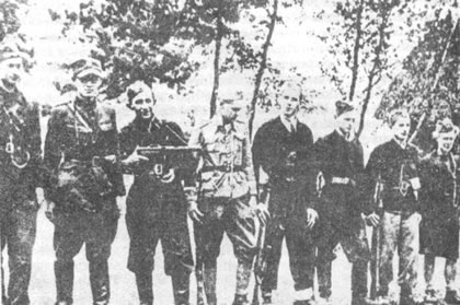 Polish Armia Krajowa partisans around Suwalki Area.