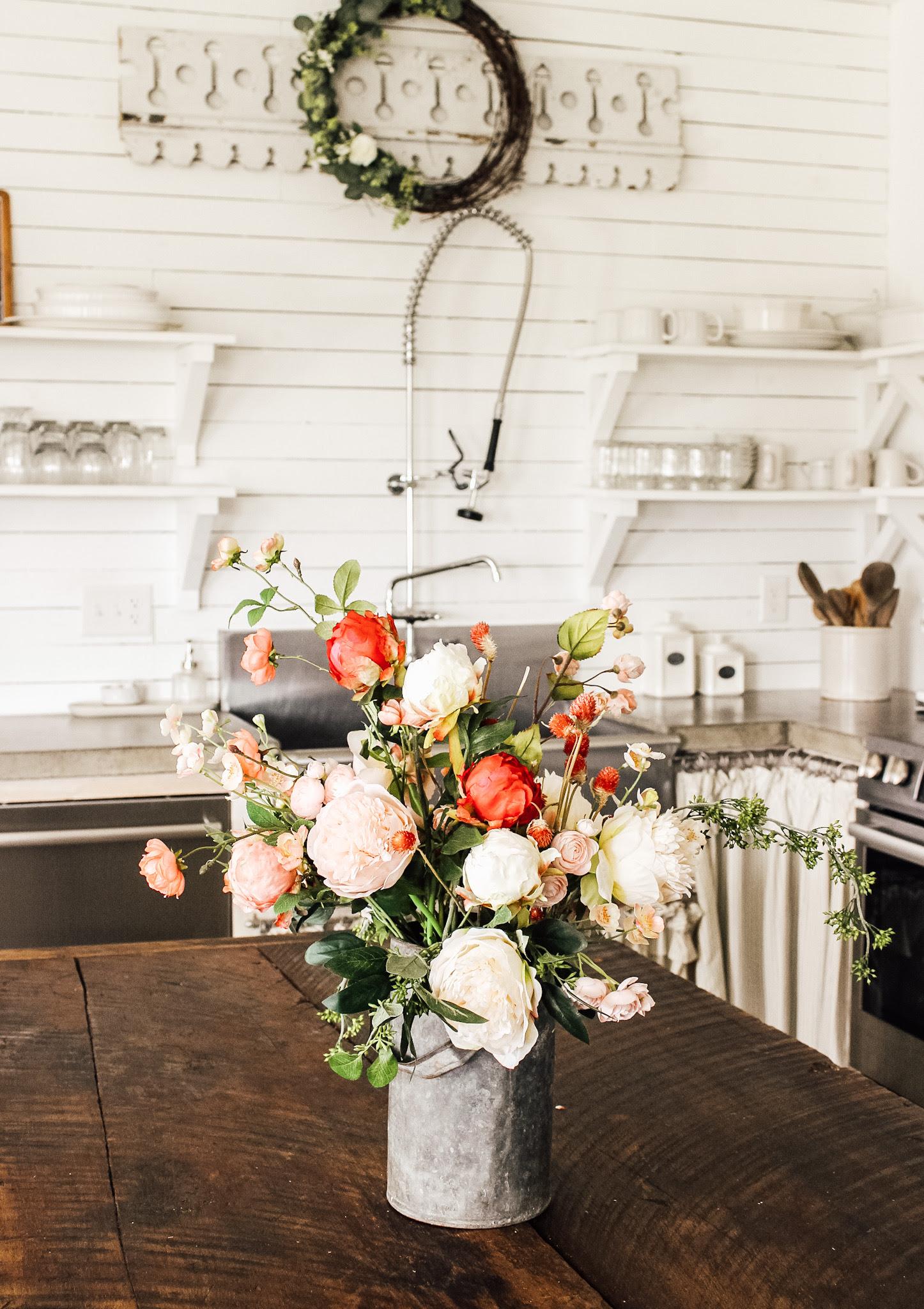 Creating A Simple Faux Floral Arrangement Fletcher Creek Cottage