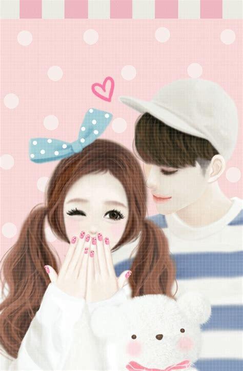 koleksi gambar gambar animasi kartun romantis korea