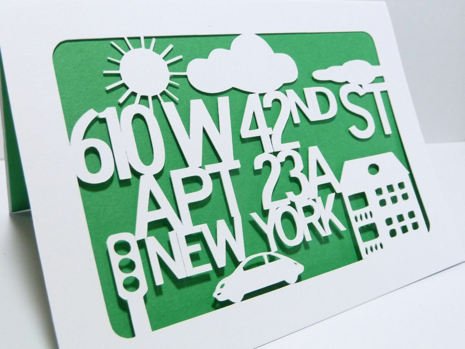 New Apartment Customizable Papercut Card