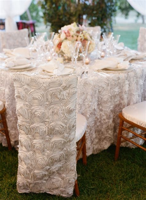 White Rosette Chair Covers   Elizabeth Anne Designs: The