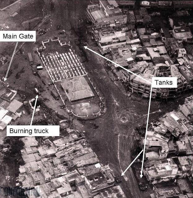 Không ảnh Lăng Cha Cả 30-4-1975, có mấy chiếc tanks bị bắn cháy
