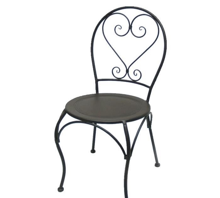 Table et chaises de terrasse chaise fer forge conforama for Table et chaise conforama