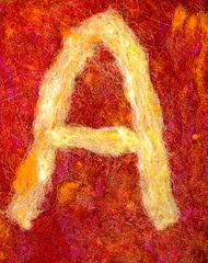 Alphabet ATC or ACEO Available - Needlefelted Letter A