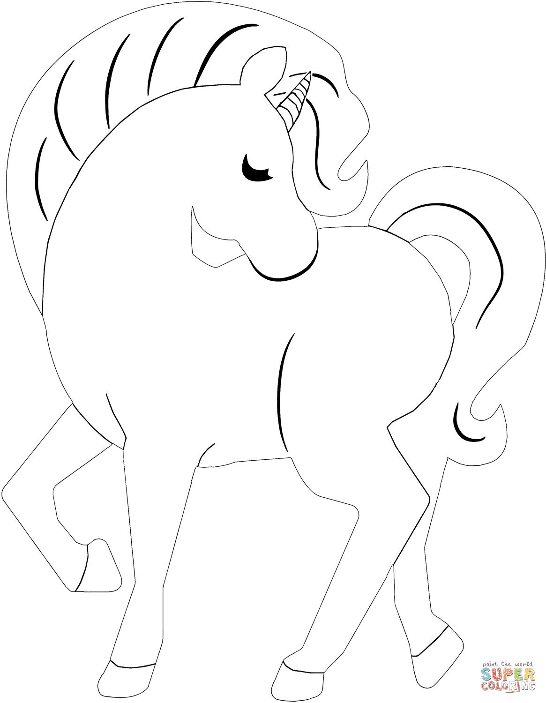 Dibujos De Unicornios Con Arcoiris Para Colorear
