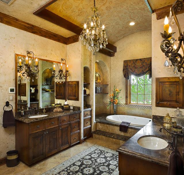 Tuscan Style Master Bath - Mediterranean - Bathroom ...