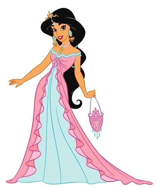 Coloriage Jasmine La Princesse Avec Une Robe à Imprimer Et Colorier