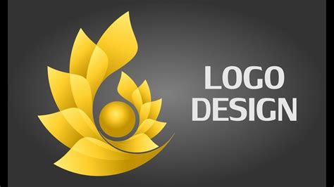 flower logo design tutorial logo design  coreldraw