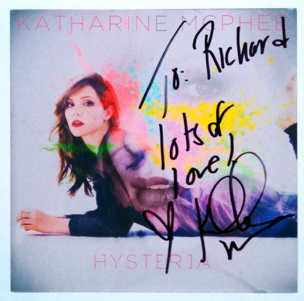 My autographed CD cover by Katharine McPhee...on December 7, 2015.