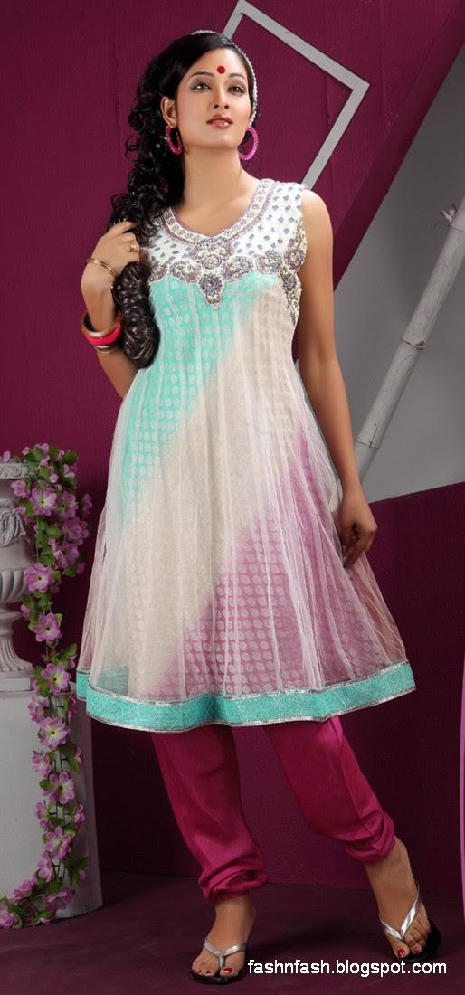 Anarkali Umbrella Fancy Frocks-Indian-Pakistani New Latest Dress Designs Collection 2013-2