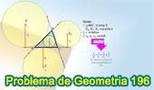 Problema de Geometría 196 (ESL): Triangulo, Relación entre el inradio y los exradios, Media Armónica, Incirculo, Excirculos.