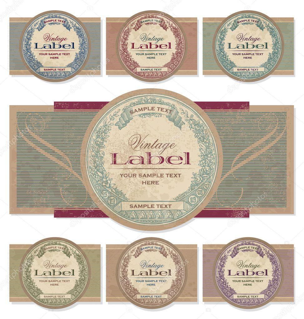 Vintage labels set (vector) — Stock Vector © milalala #6288816