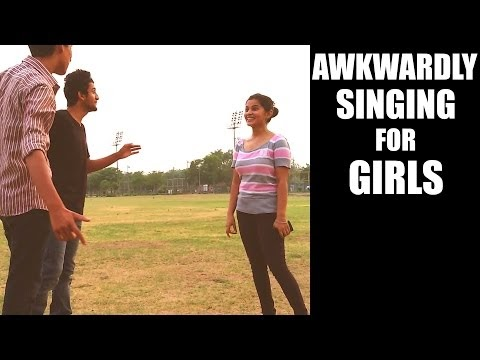 Awkwardly Singing For Indian Girls | Prank in INDIA by AVRprankTV
