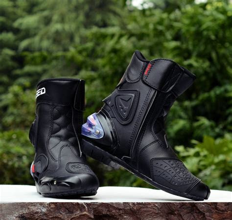 2018 New Motorcycle Short Boots Pro Biker Speed Moto