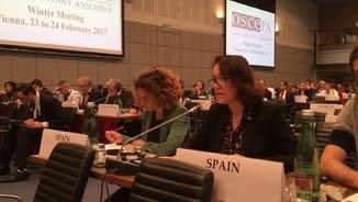 Laura Castel a la reunió de l'OSCE
