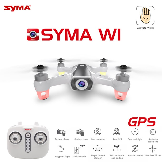 GPS Foldable Arm FPV with 4K 1080p Camera RC Drone Quadcopter RTF High Speed WiFi Optical Flow Positioning syma w1 vs H117S