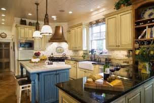 french country kitchen blue  yellow video