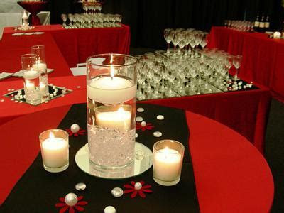 Red, Black And Gold Themed Centerpieces And Table Decorations