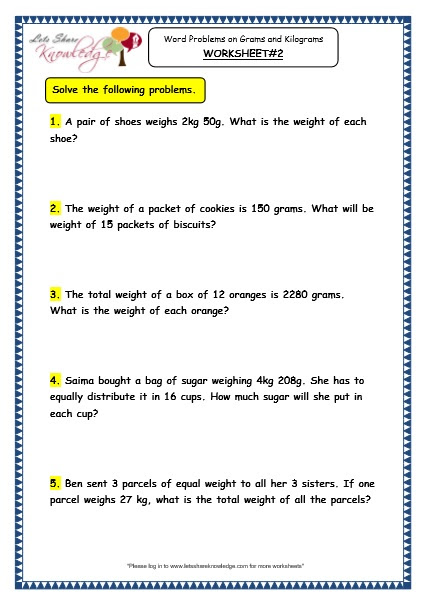 Blue Print Division And Multiplication Problems Grade 3