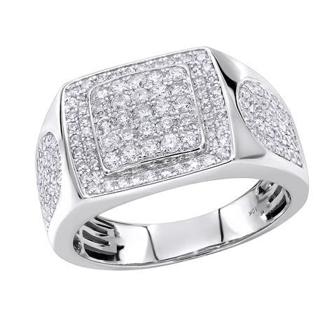 Luxurman Pinky & Wedding Rings Affordable 10K Gold Mens