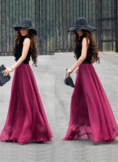 25  best ideas about Chiffon Skirt on Pinterest
